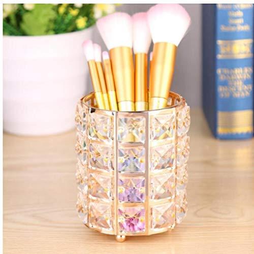 Bijoux en Cristal boîte de Rangement Pinceau de Maquillage Tube de Rangement Maquillage Organisateur cosmétiques Crayon Sourcils Porte Organisateur Or Argent