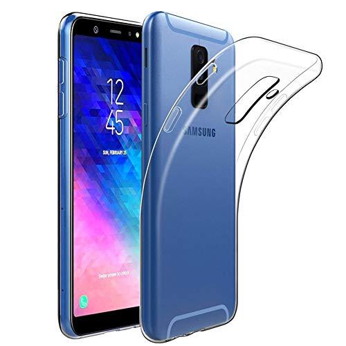 Amonke Coque Samsung Galaxy A6 Plus 2018, Ultra Clair TPU Silicone Transparent Souple Housse Etui Ultra Fine/Ultra Léger Anti Choc/Anti-Scratch Coque pour Samsung Galaxy A6 Plus 2018