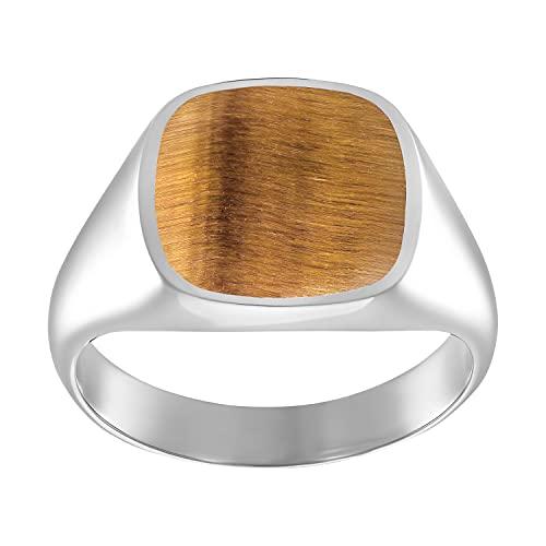 IDENTIM Plata de ley marrón Tiger's Eye