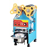KOUWO Electric 360w Plastic Cup Sealer Machine Bubble Tea Paper Cup Sealing Machine Fully Automatic 300-500cup/H Temperature Control 17cm Height