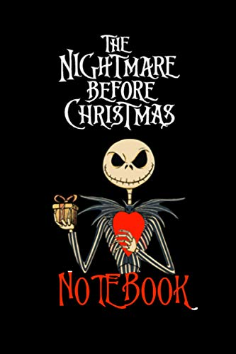 The Nightmare Before Christmas Notebook: The Pumpkin king, Jack Skellington themed 6 x 9 Lined Journal (100 pages)