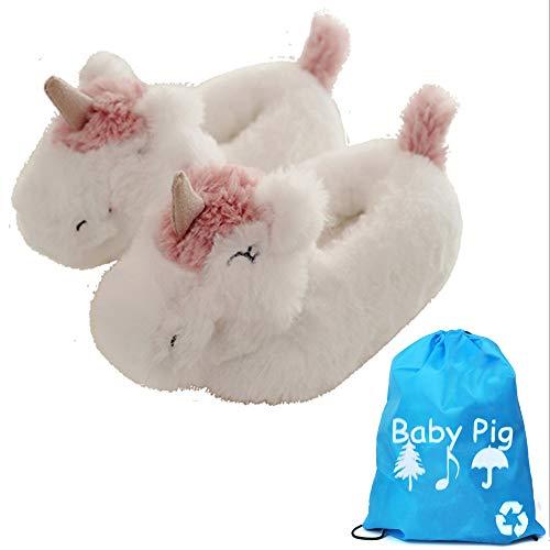 Baby Pig Zapatillas de Estar por casa de con Cuentas para Mujer 38-41 (38-41CN, Unicorn)