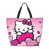 Hello Kitty Anime Bolsa de hombro multifuncional de gran capacidad para tableta de viaje de Weekender Bolsa de playa