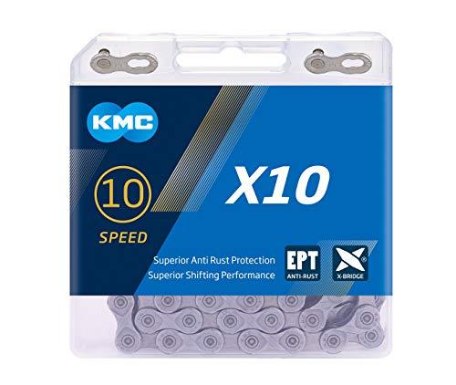 KMC Unisex– Erwachsene X10 Ept Anti-rost Fahrradkette, schwarz, 1size