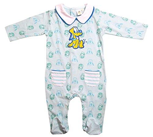 Donald Duck und Pluto Strampler Kollektion 2017 Strampelanzug 62 68 74 80 86 92 Jungen Einteiler Neu Lang Baby Blau (62-68, Blau)