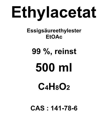 500 ml di etilacetato, 99% di acetato (ESTO), per cromatografia, solvente