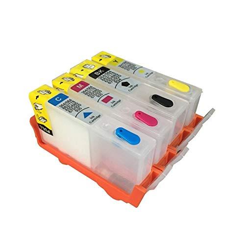 Wschen Vilaxh 364 364 XL Cartuchos Recargables con Chip for HP Deskjet 3070A 4620 5510 3520 5520 6510 6515 6520 7510 7515 Impresora