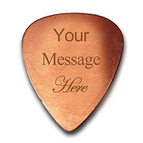 2) Personalized Copper Guitar Pick