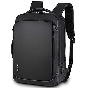 BestoU ビジネスリュック 15.6インチ 大容量 USB充電ポート多機能 3 WAY 撥水加工 通勤 通学 旅行 バックパック PCリュック ブラック