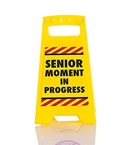 """BOXER """"Senior Moment Bureau Panneau d'avertissement, en Plastique, Jaune"""