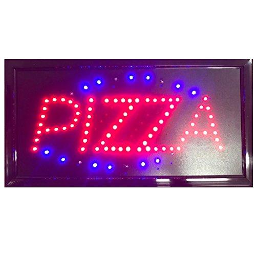 DOBO Insegna luminosa a LED con presa EU per locali ristoranti negozi e bar Grande e con led luminosi e ben visibili 48 x 25 x 2,5 cm (Pizza)