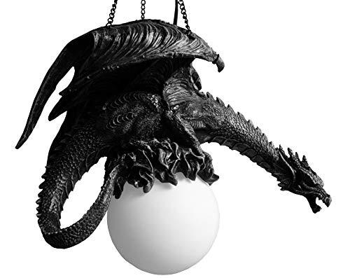 Drachenlampe Drachenfigur DRABULA Deckenlampe Drachen Figur Deckenleuchte schwarz Pendelleuchte