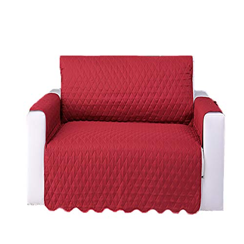 Color Puro Cubierta Forros Para Sofas,Para Sala De Estar Perro Protector De Muebles De Mascotas,Sostenible Poliester Funda De Sofa,Para La Sala De Estar Decoración Del Hogar-Rojo. 190x196cm(75x77inch)