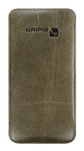 Gripis Case Waxed Ledertasche Olive Grün für Samsung Galaxy S4 GT-i9500