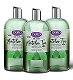 Duru Shower Gel Body Wash with Antioxidant Matcha Tea for Women & Men, Detox Effect in the Shower, Moisturizing Liquid Bath Body Soap, Tightens Skin, 0% Paraben, Silicon & SLS, 16.9 oz - Pack of 3
