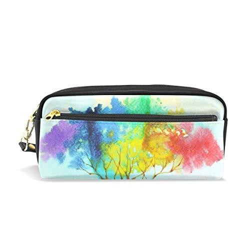 Mnsruu Trousse, Rainbow Arbre Grande capacité Pen Sac Maquillage Outil Sac avec compartiments pour filles garçons