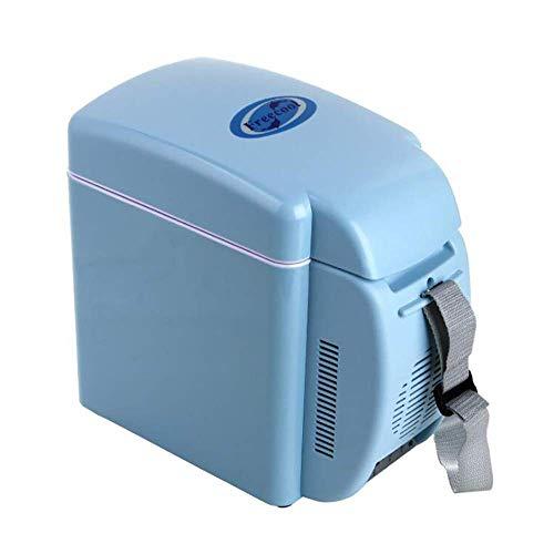 MQJ 7L Coche Mini Frigorífico Coche Home Dual Use Calefacción Y Refrigeración Compacta Amp; Portátil - Acamp; Cables de Alimentación de Dc 13.38 * 7.08 * 12.59 Pulgadas