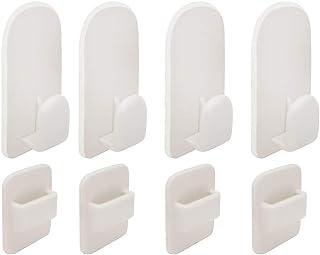 YOHAPPY - Juego de 4 pares de ganchos de pared para mando a distancia de TV, de aire acondicionado, mando a distancia, autoadhesivo fuerte