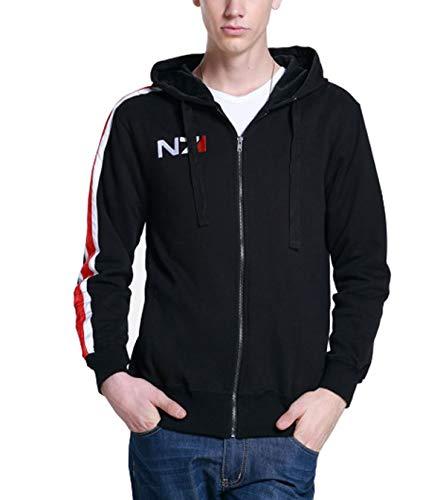 EU Fashions Mass Effect N7 Hoodie für Damen und Herren Gr. XXX-Large, N7 Black Hoodie Men