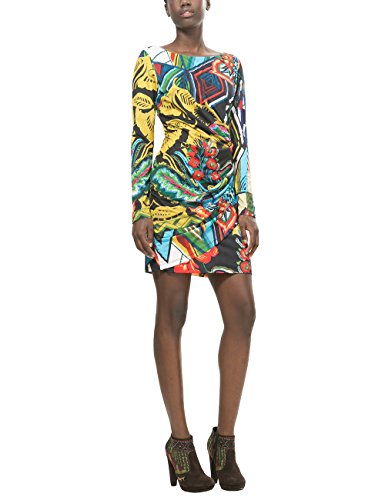 Desigual Damen Kleid VEST_ROSITA, Schwarz (NEGRO 2000), Gr. S (Herstellergröße:M)