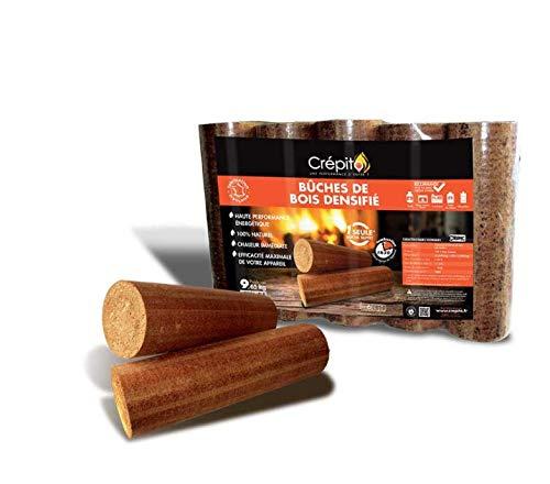 Crepito buches de bois densifié - Rendement énergétique 3 à 4 fois supérieur et 4 fois moins d'espace de stockage (1)