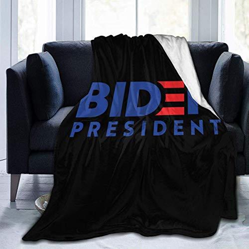 chenjian President 2020 - Manta de microfibra de forro polar ultra suave de franela ligera y cálida para cama de 152 x 127 cm