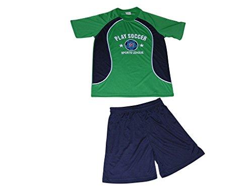 Herbold Sportswear Kinder GK-384 K Shirt+Short, grün/Marine/Weiß, 116