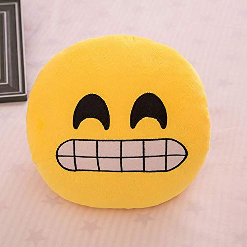 WRJY Emoji Pillows, Round Smiley Emoticon Stuffed Plush Toy Doll Pillow Cushions,D-29cm
