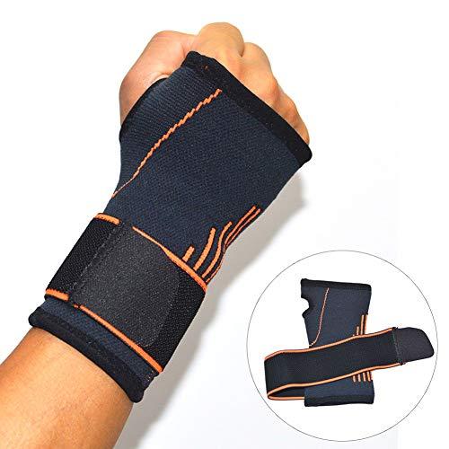 Handgelenkbandage, verstellbar, für linke oder rechte Hand, Kompressionsbandage für Karpaltunnel, Sehnenscheidenentzündung, Bowling, Sportverletzungen, Schmerzlinderung