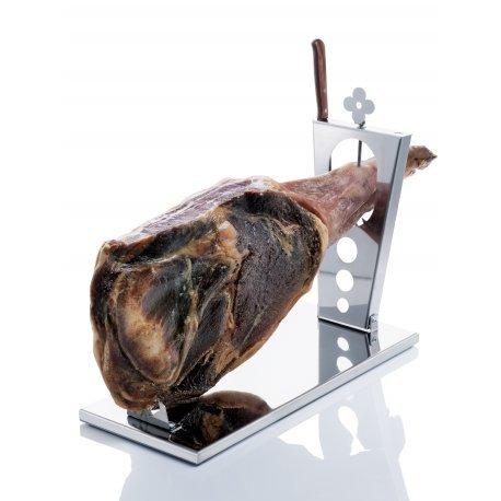 DON HIERRO - Porta prosciutto in acciaio Inox.