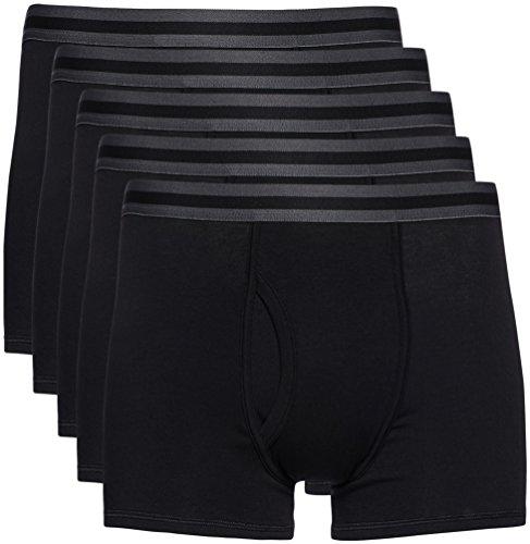 Amazon-Marke: find. Herren Shorts aus Baumwolle, 5er-Pack, Schwarz (Black X5), XXL, Label: XXL