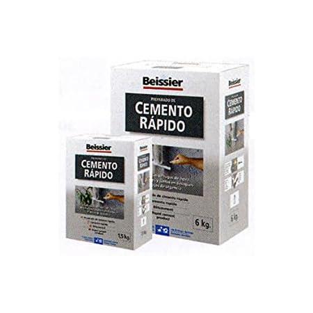 Beissier M107374 - Cemento gris rapido 6 kg: Amazon.es ...
