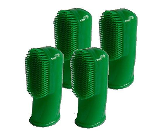 HDP Lot de 4 brosses dentaires pour les doigts Couleurs assorties