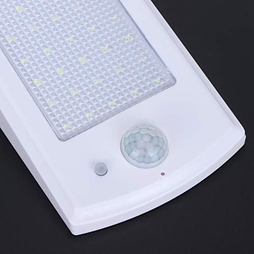 Liujaos Luz Solar con Sensor de Movimiento, farola Blanca, Alto Brillo para el Pasillo de la Puerta del jardín