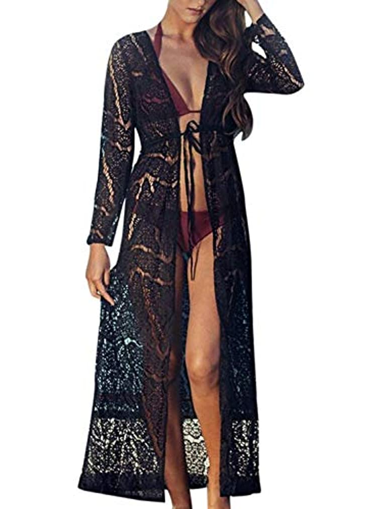 Chunoy Women Cotton Casual Loose Kimono Cover Up Summer Beach Dress