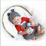 JXWANG Real Renacimiento De Silicona De Cuerpo Entero, 22 Pulgadas 55Cm MuñEca Bebe - Juguete De SimulacióN para ReciéN Nacidos Bebe Reborn NiñO - Set De Regalo para NiñOs