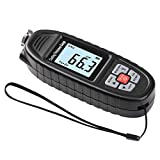 Digital Paint Thickness Gauge Paint Depth Meter Coating Thickness Measurement | LED Flashlight | High Contrast Backlight LCD | Resolution 0.1mil | Auto Digital Calibration | Data Hold (Black)