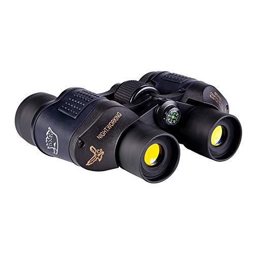 KKmoon Fernglas, für Erwachsene, leistungsstark, 60 x 60 cm, tragbar, Wandern, Teleskop Nachtsicht, hohe Helligkeit, schwaches Licht für Überlebensausrüstung für Camping im Freien