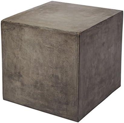 Best Dimond Home Cubo Concrete Cube Table, 20