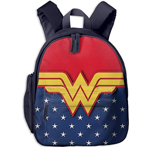 JKSA Wonder Woman Mochilas para niños Mochilas Escolares para niños y niñas Mochila Preescolar Mochila Linda de Dibujos Animados para jardín de Infantes, Preescolar
