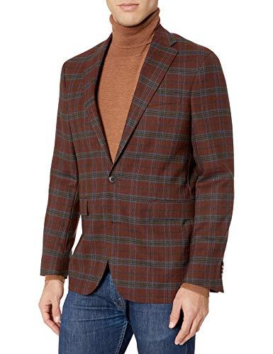 Haggar Men's Birdseye Fancy Slim Fit 2-Button Side Vent Sport Coat, Navy, 38R