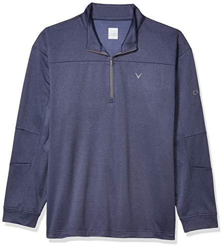 Callaway Suéter de golf de manga larga con cremallera de 1/4 y forro polar elástico para hombre - azul - XX-Large