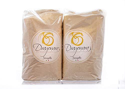 DRAGONARA - Harina de Sémola de Trigo Duro Saragolla BIO - Bolsa de 1 kg