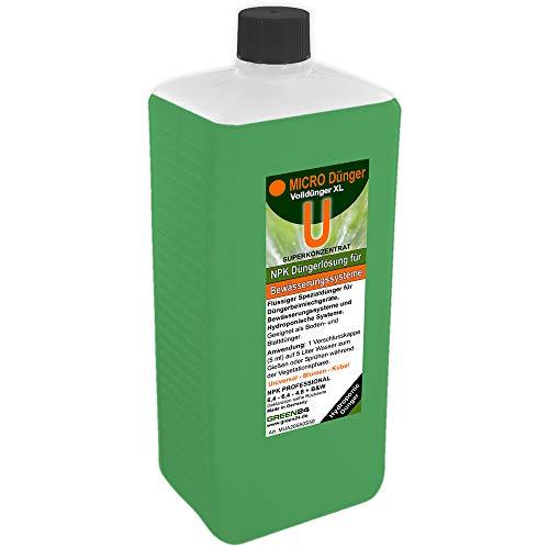 GREEN24 Micro+U Universal-Dünger XL 1 Liter für Düngerbeimischgeräte Bewässerungssysteme Hydroponisch HIGH-TECH NPK Volldünger