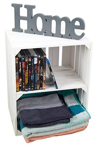 Weiße Kiste für Schuh-und Bücherregal