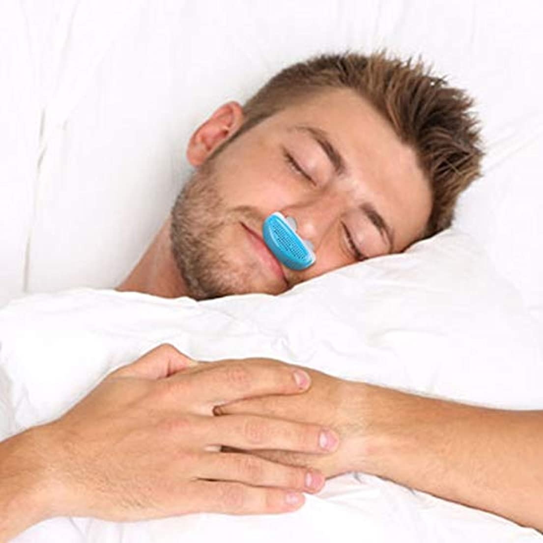 著名なラフト錆びNOTE いびき鼻いびきを止める呼吸器具ガード睡眠補助ミニいびき装置アンチいびきシリコーン箱付き