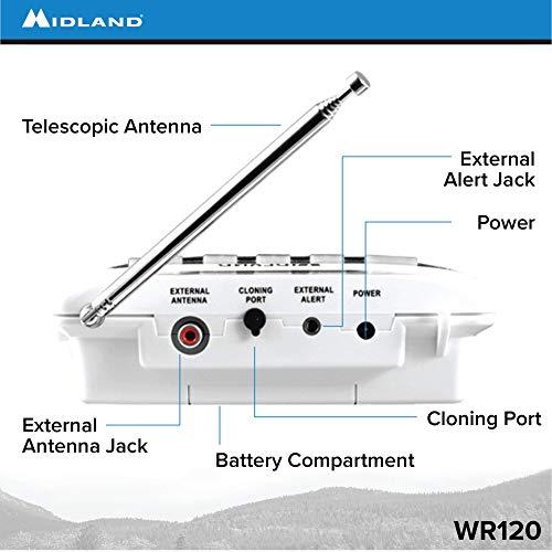 Product Image 4: Midland – WR120B/WR120EZ – NOAA Emergency Weather Alert Radio – S.A.M.E. Localized Programming, Trilingual Display, 60+ Emergency Alerts, & Alarm Clock (WR120B – Box Packaging)