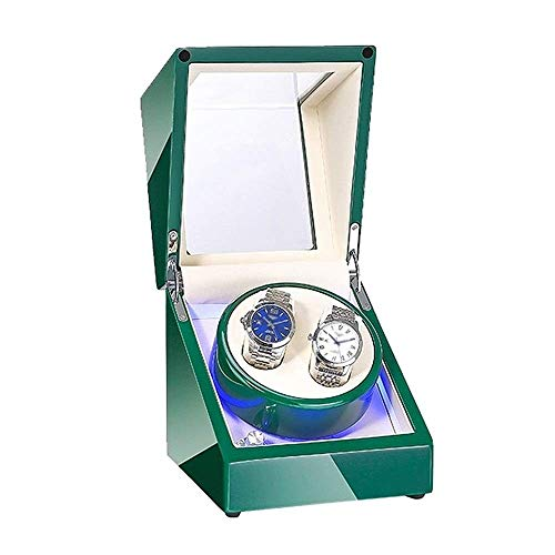ZHENAO Doble Reloj Automático Bander Bander Fuente de Alimentación Dual Motor Silencioso Piano Pintura Pintura Exterior para Hombres Relojes de Las Mujeres clásico/Blanco