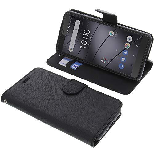 foto-kontor Tasche für Gigaset GS100 Book Style schwarz Schutz Hülle Buch