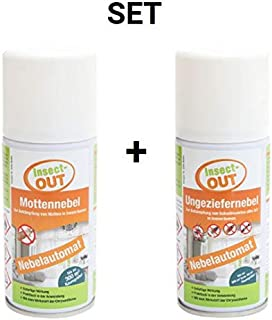 Insect-OUT Set Ungeziefernebel 150 ml Mottennebel 150 ml